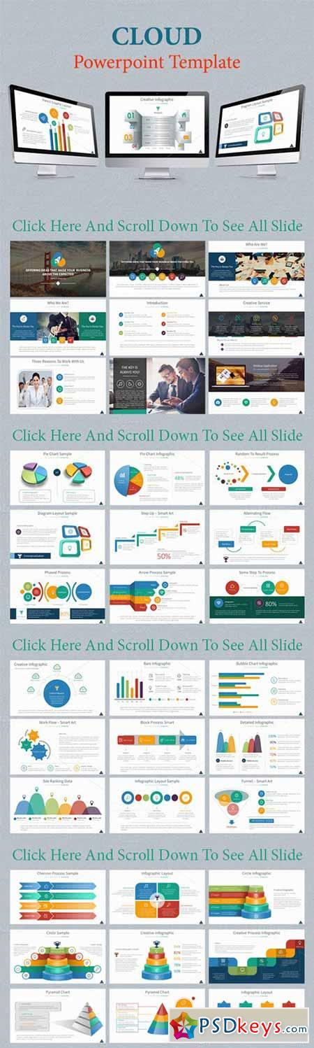 Cloud Powerpoint Template 303729