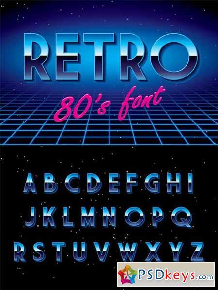 Retro disco font 304327