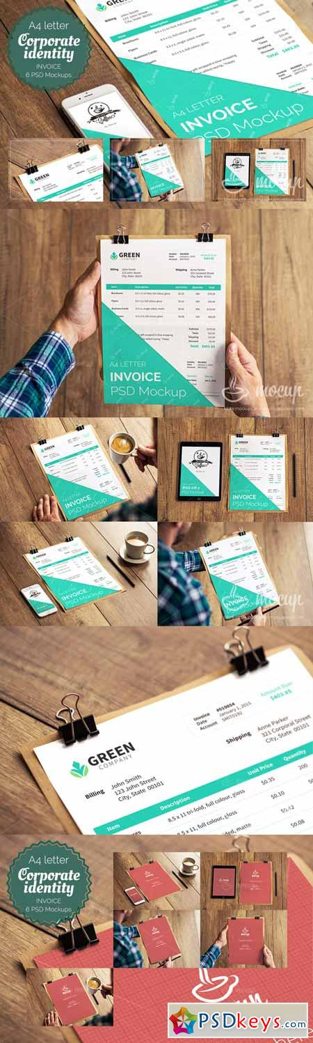 PSD Invoice Mockup Templates Free Download Photoshop - Invoice mockup psd free