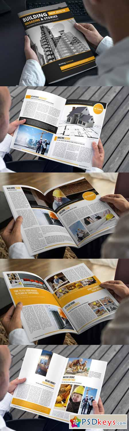 Building Magazine Template 308326