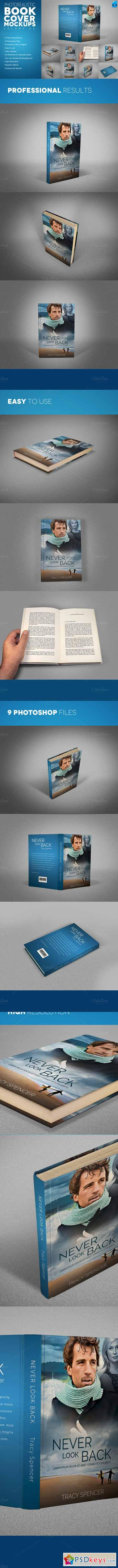 Photorealistic Book Cover Mackups v4 308190