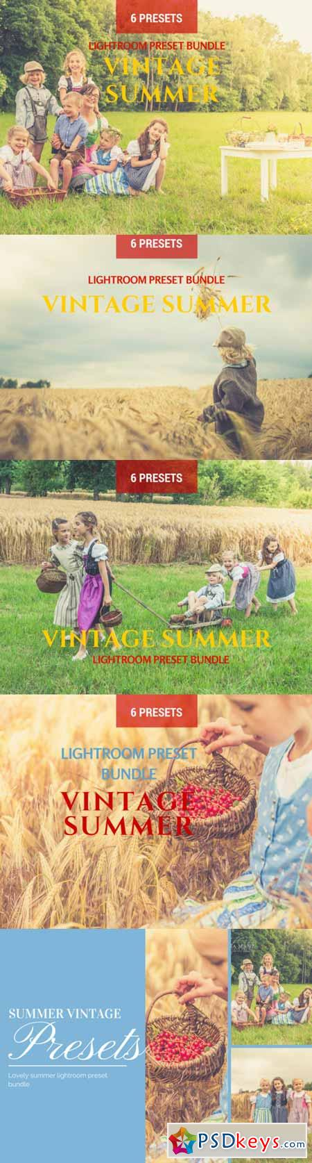 6 Summer Vintage Lightroom Presets 308410