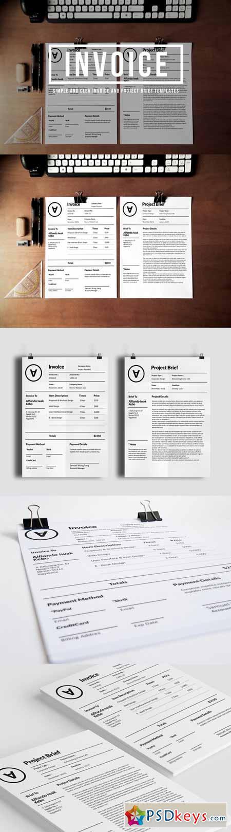 creativemarket 2 simple invoice 98929 – neverage, Simple invoice