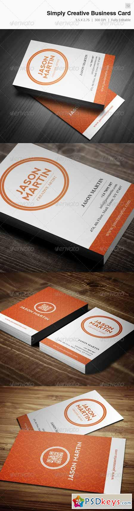 Simply Creative Business Card - 12 3907355