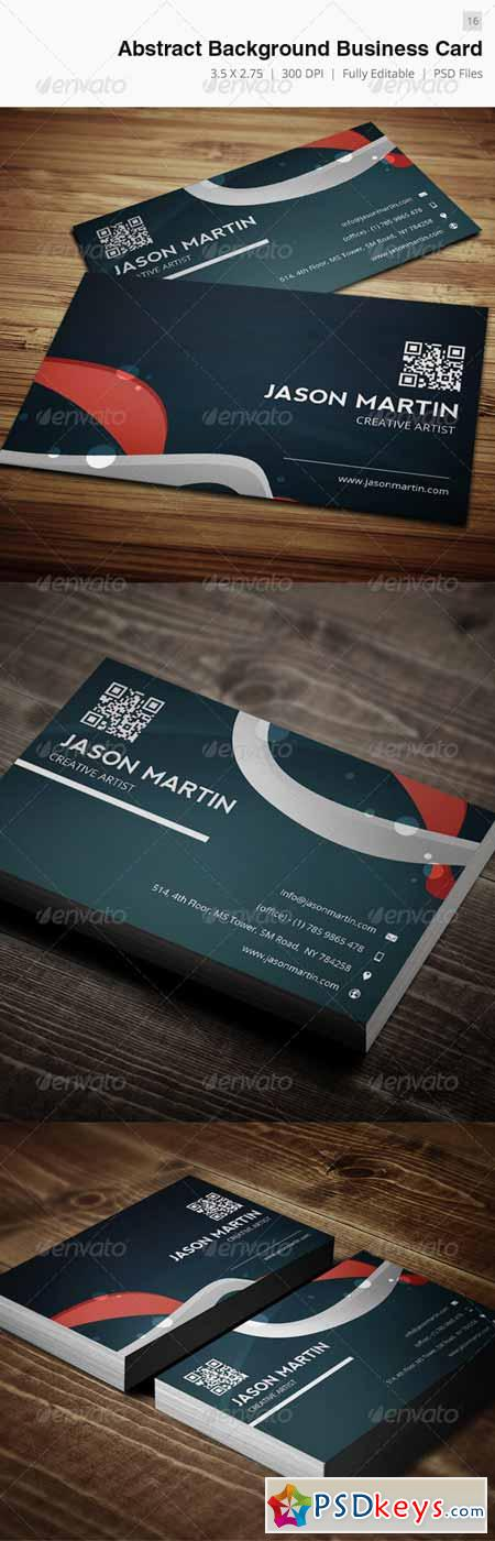 Abstract Background Creative Business Card - 16 3929798