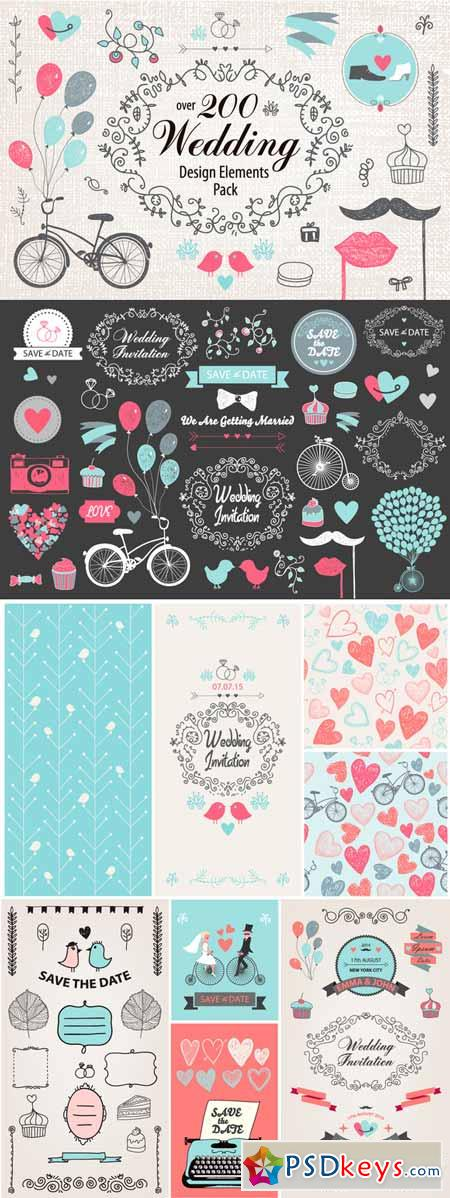 Over 200 Wedding Elements Pack 308424