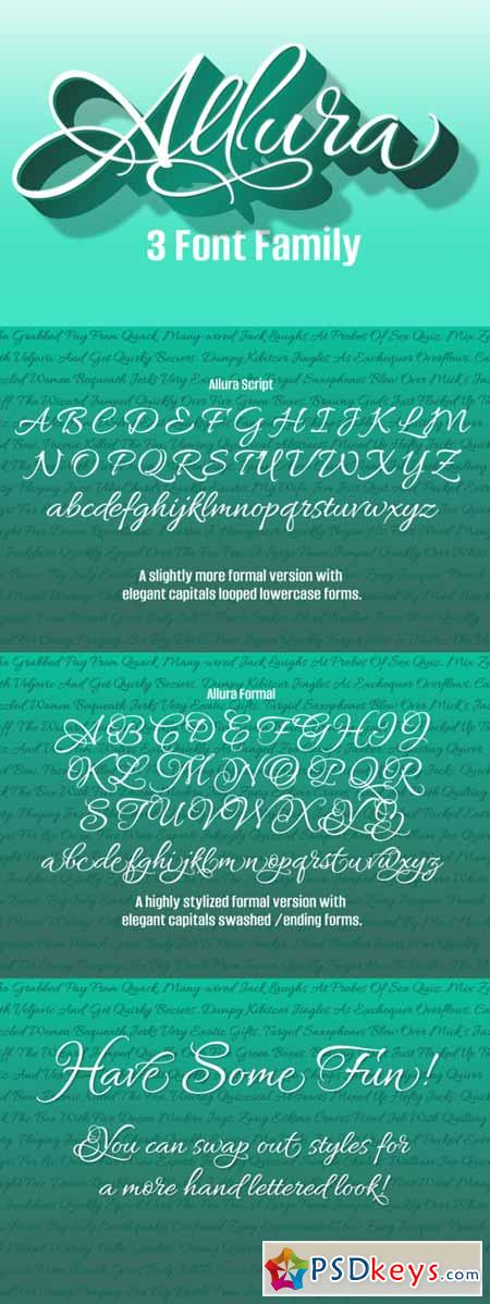 Allura 3 Font Package 309048