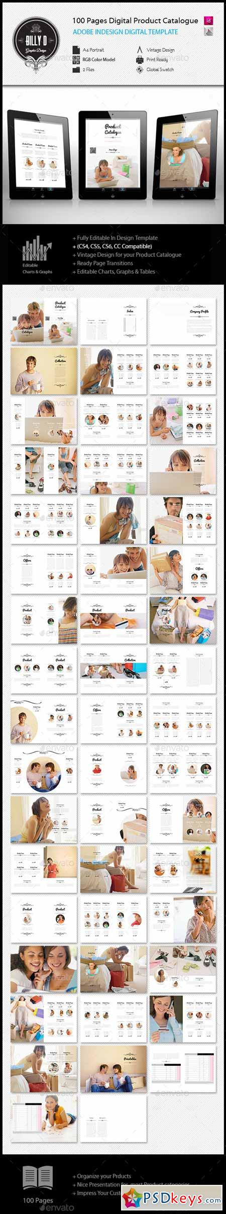 100 pages A4 Digital Product Catalogue Template 11909003