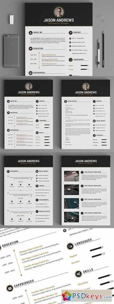 the elegant resume cv set template 139468  u00bb free download photoshop vector stock image via