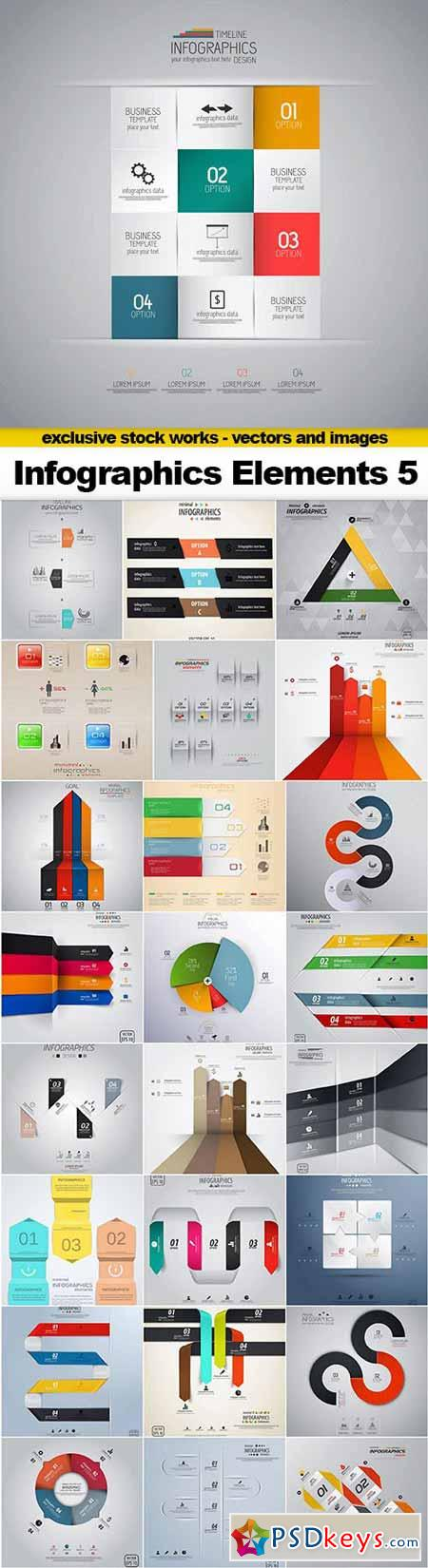 Infographics Vector Elements 5 - 25x EPS