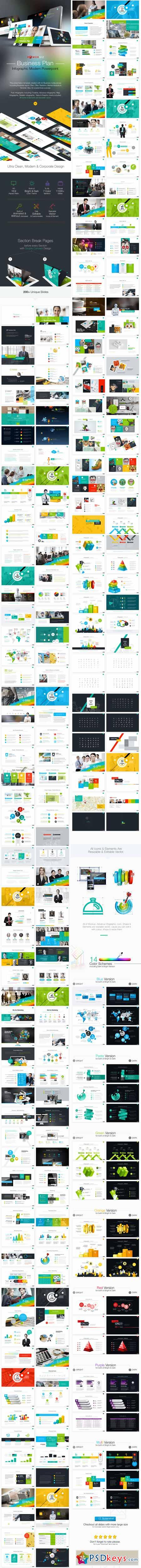 Business Plan Infographic Powerpoint 10599756