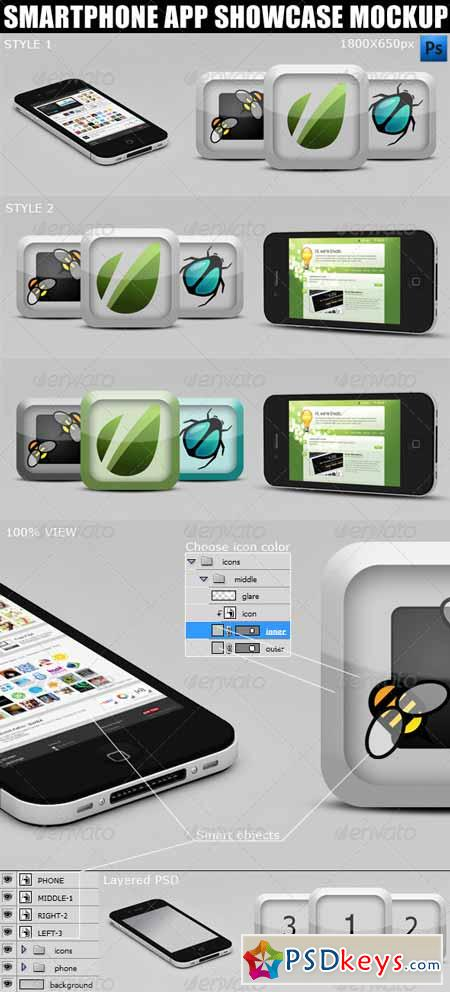 Smartphone App Showcase Mockup 2367679 » Free Download