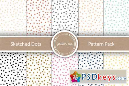 Sketched Dots Pattern Pack 161284
