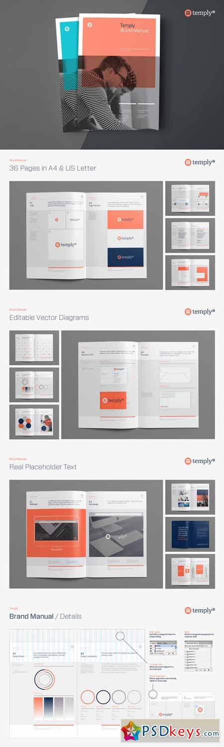 Brand Manual Template   Free Download Photoshop Vector Stock