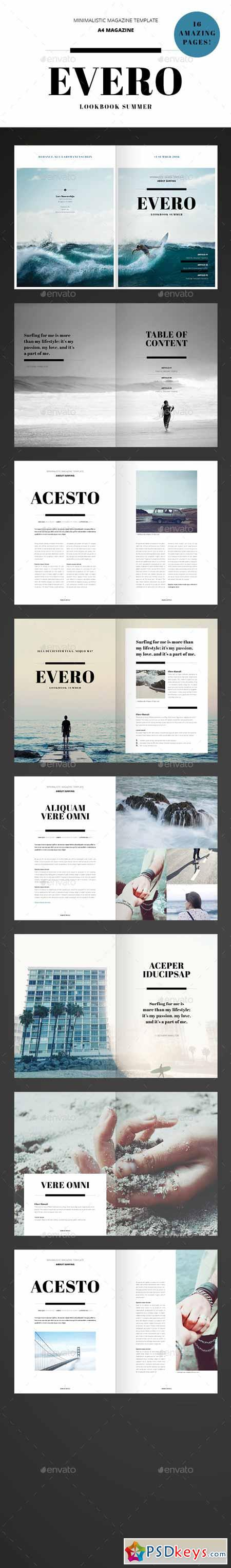 Amazing Minimal Magazine - InDesign Template 11957652 » Free ...