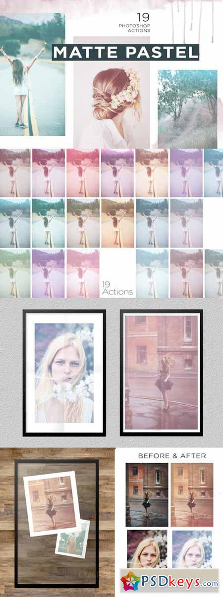Matte Pastel Photoshop Actions 314166