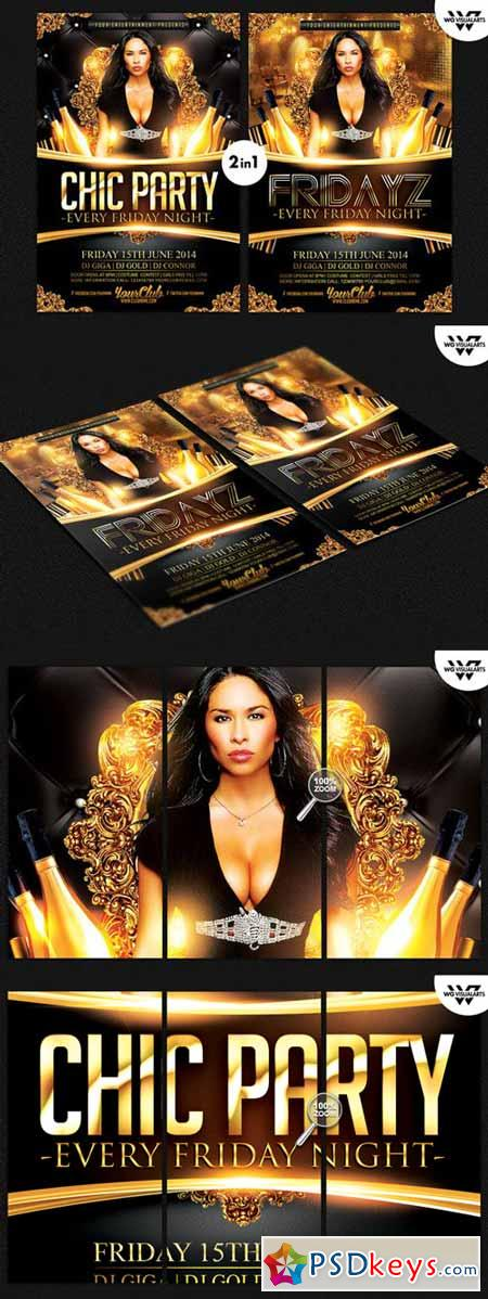 CHIC PARTY Flyer Template 294352