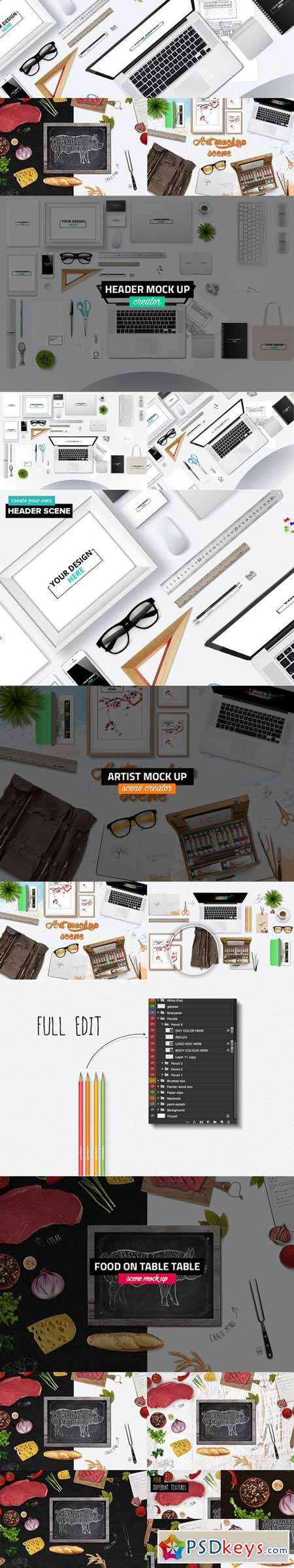 Big bundle Header Mock Up scenes 248840