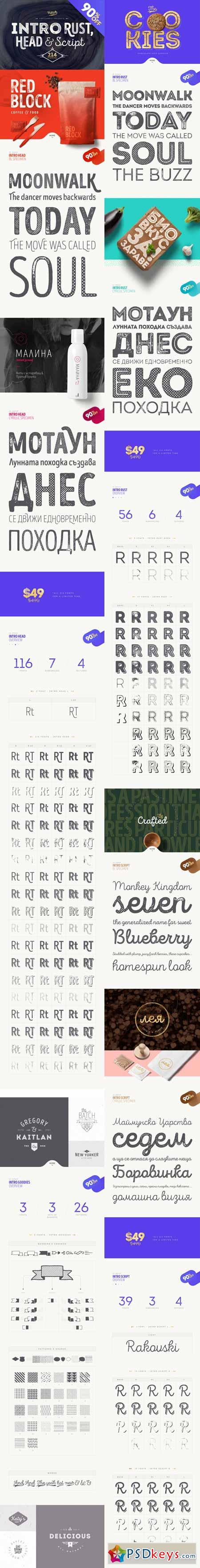 Download Intro Rust - pack of 214 fonts 316566 » Free Download ...