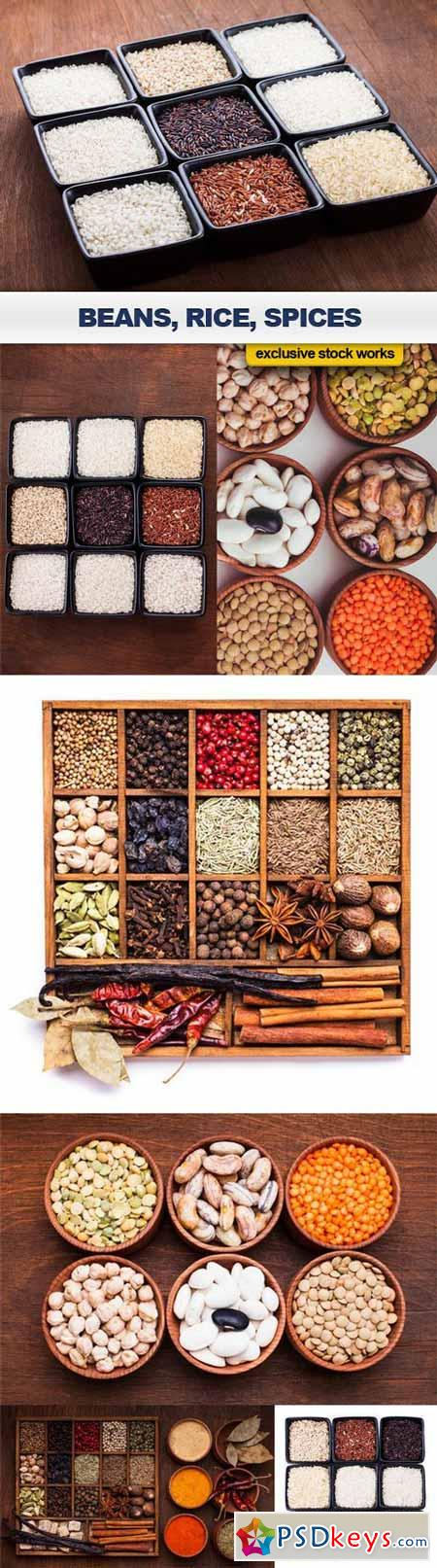 Beans, Rice, Spices - 7 UHQ JPEG