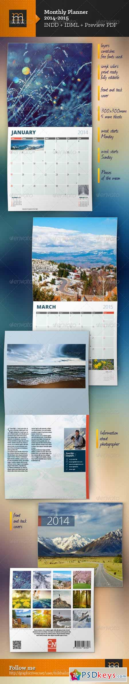 Monthly Planner 2014+2015 5965517