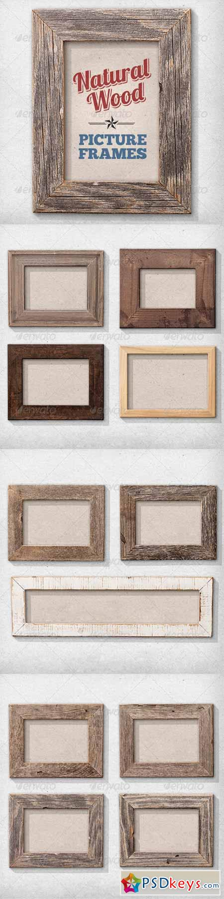 11 Isolated Natural Wood Picture Frames 2686798