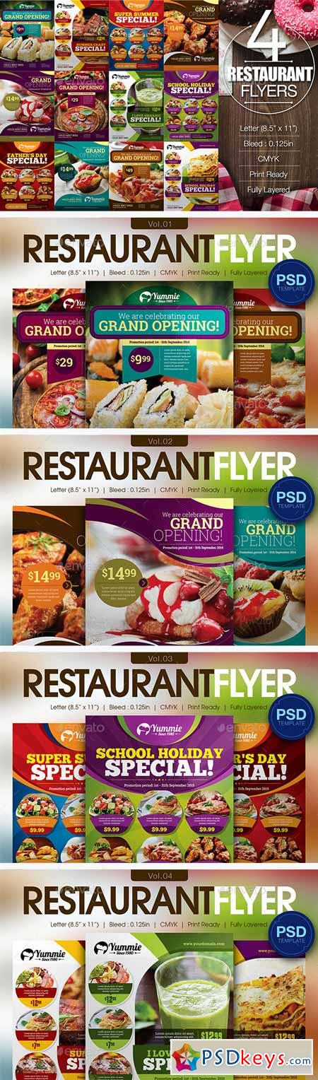 Restaurant Flyer Bundle 12050186