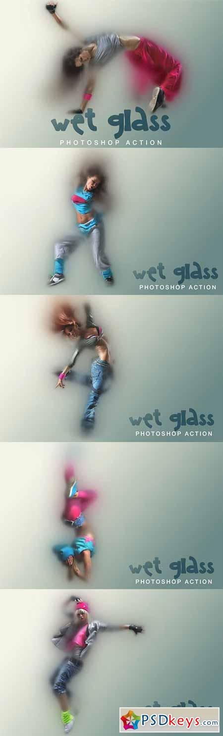 WET glass Photoshop Action 320174