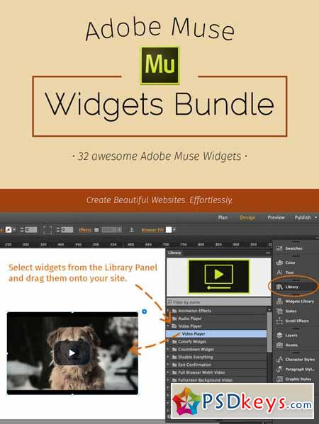 Adobe Muse Widgets Bundle 315741 » Free Download Photoshop