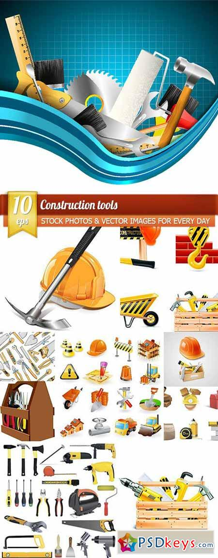 Construction tools, 10 x EPS