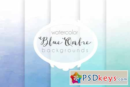 Blue ombre watercolor backgrounds 91525