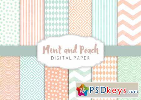Peach and mint patterns 275267