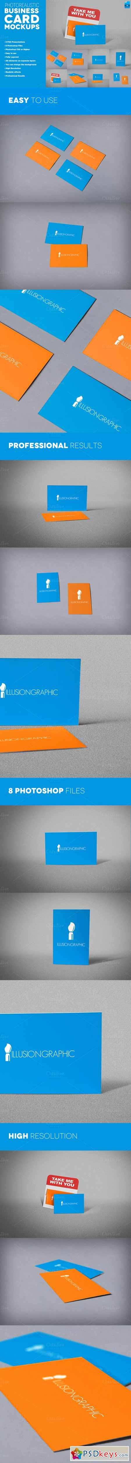 Photorealistic Business Cards Mockup 323050