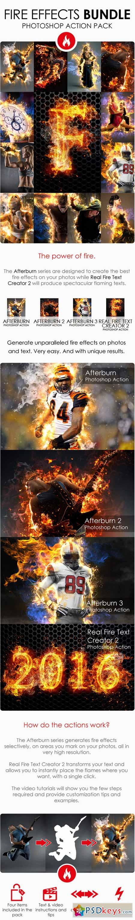 Fire Effects Bundle - Photoshop Actions 12165883