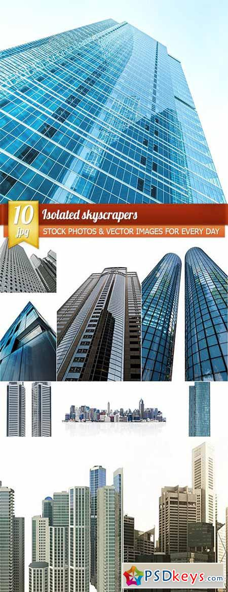 Isolated skyscrapers 10 x UHQ JPEG