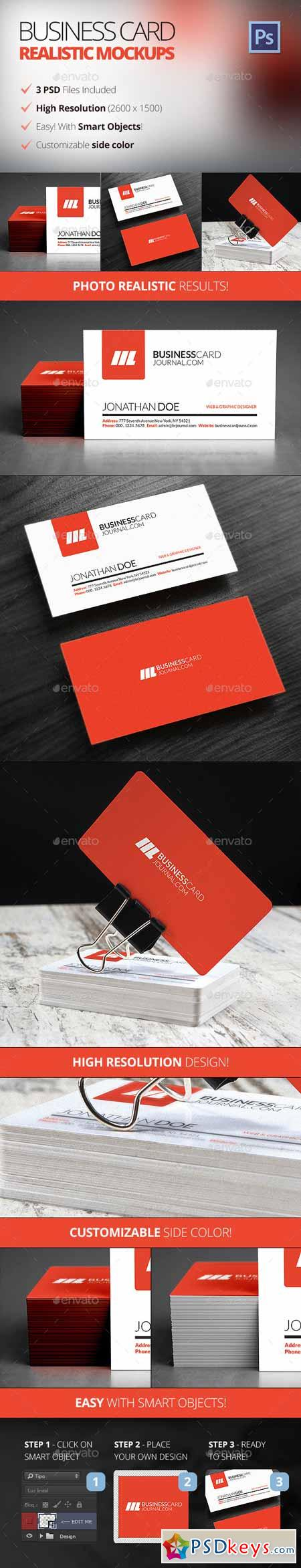 Photo Realistic Business Card Mockups 12045202