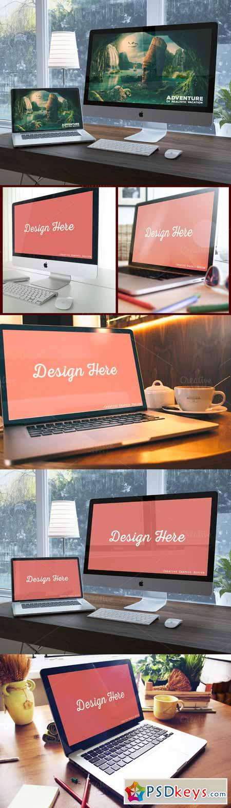Beautifull Workspace Mock Up 328462