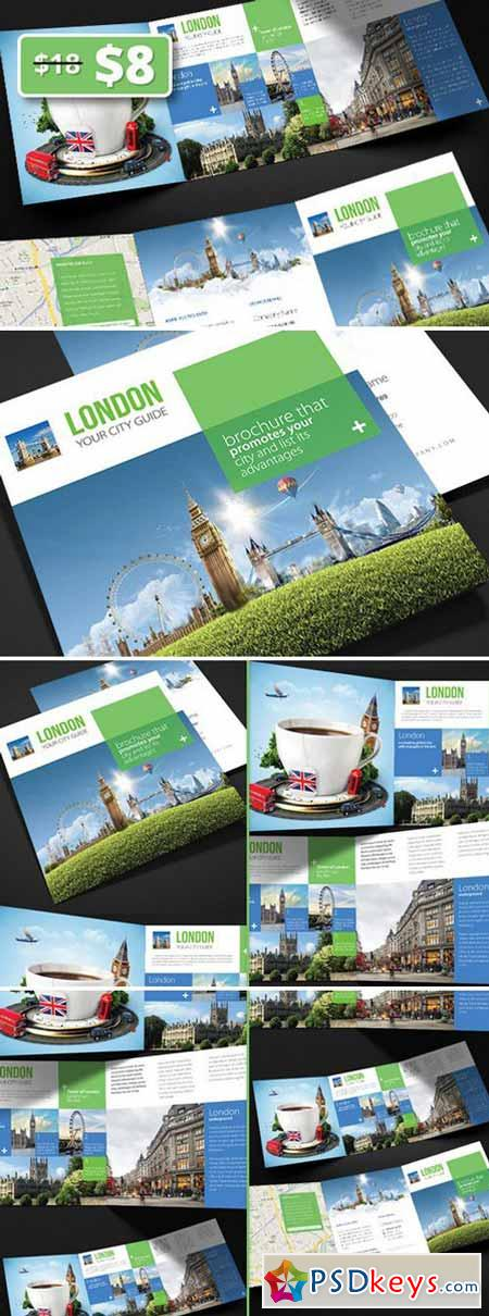 London - City Trifold Brochure 328292