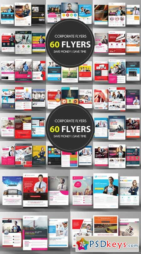 60 Corporate Business Flyers Bundle 328206