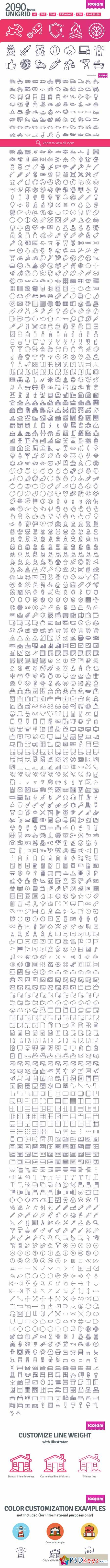 2090 icons in UniGrid set 107723