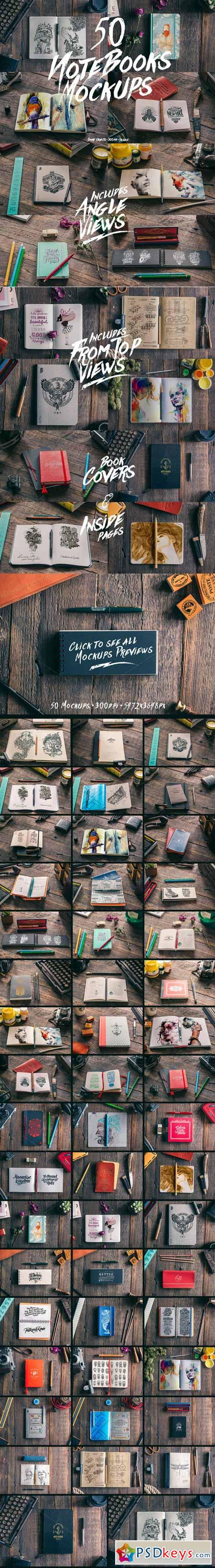 50 Notebooks Mockups 267496