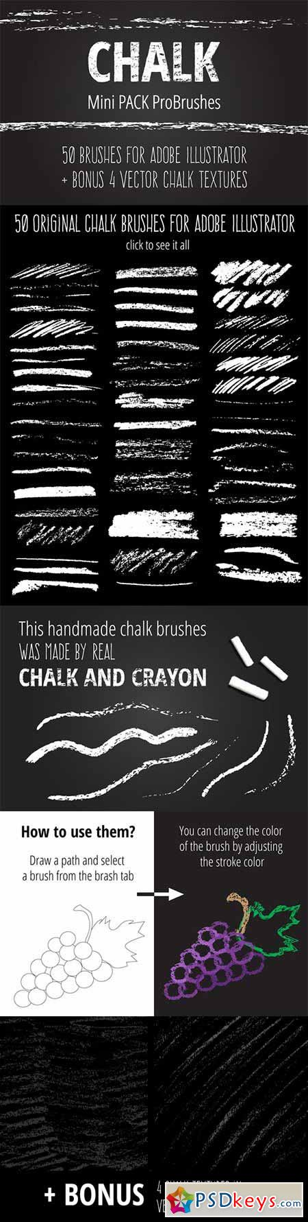 Mini Pack vector Chalk Brushes 327552