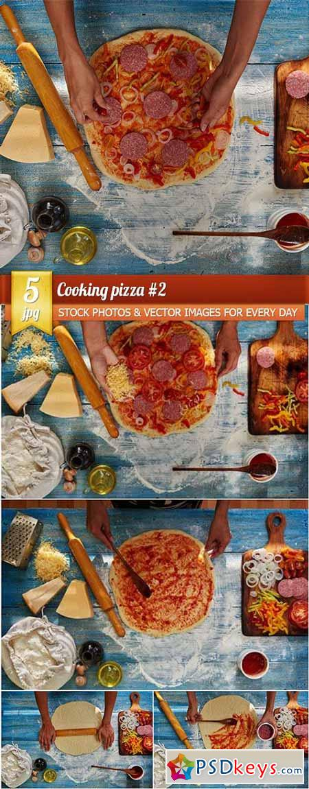 Cooking pizza #2, 5 x UHQ JPEG