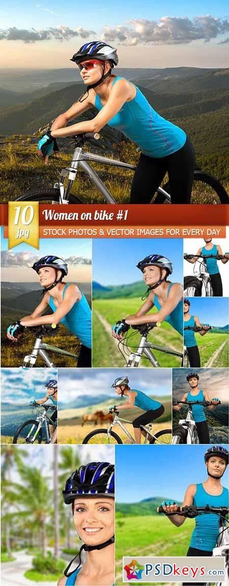 Women on bike #1, 10 x UHQ JPEG