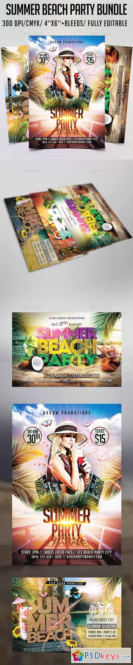 Summer Beach Party Flyer Bundle 12253467