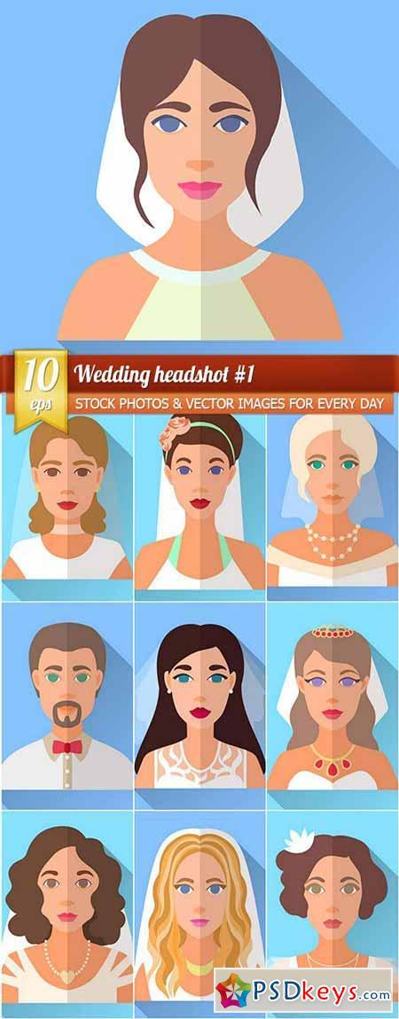 Wedding headshot #1, 10 x EPS
