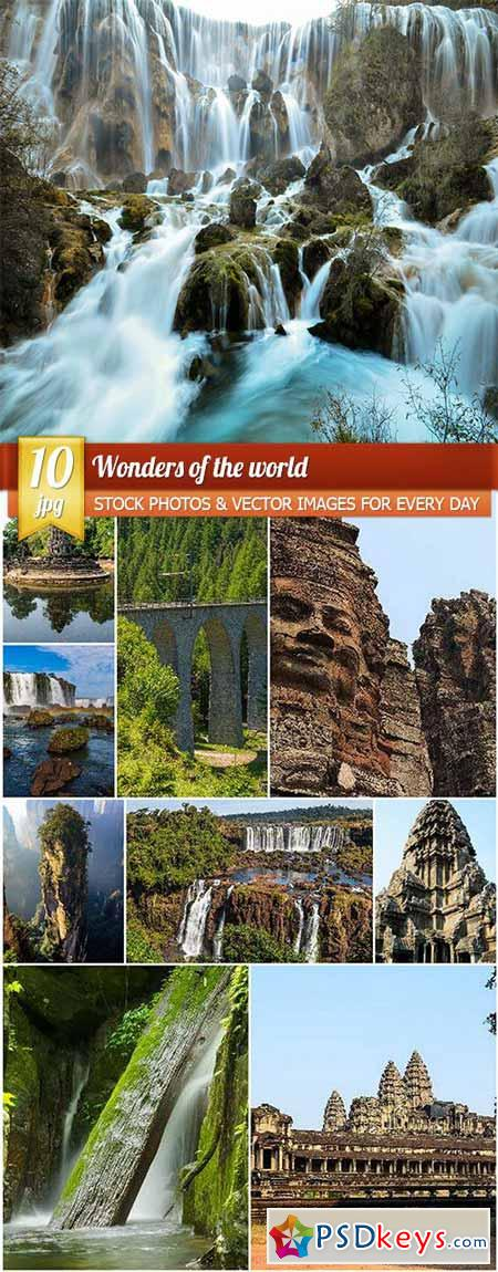 Wonders of the world, 10 x UHQ JPEG
