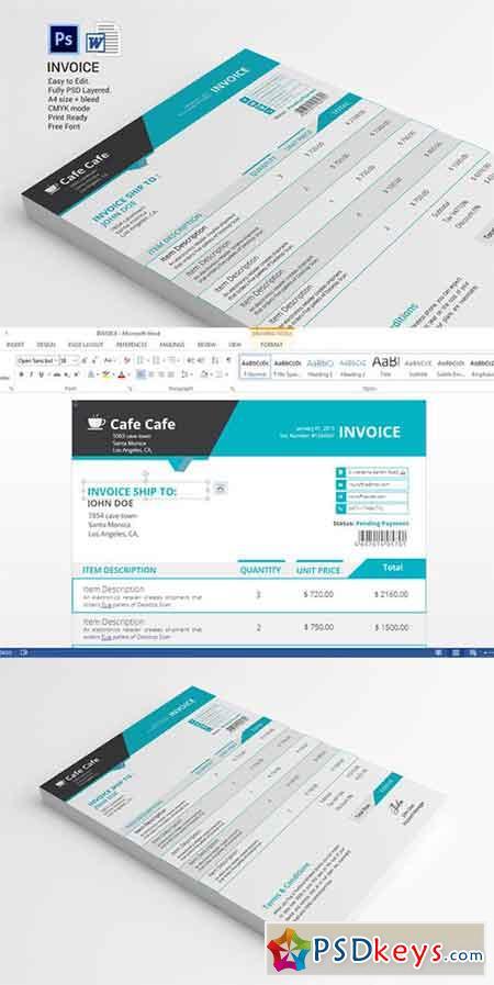 business invoice template 331406 » free download photoshop vector, Invoice examples