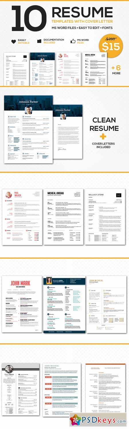129 CV templates free to download in Microsoft Word format