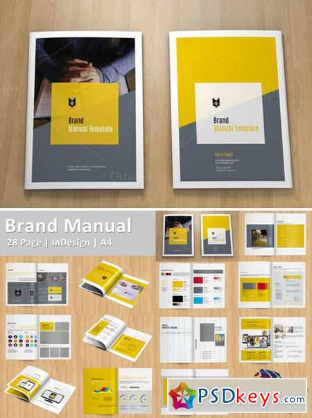 Brand Manual Template   Free Download Photoshop Vector